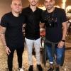 Encontro de campeões de futebol em evento fashion soccer em São Paulo