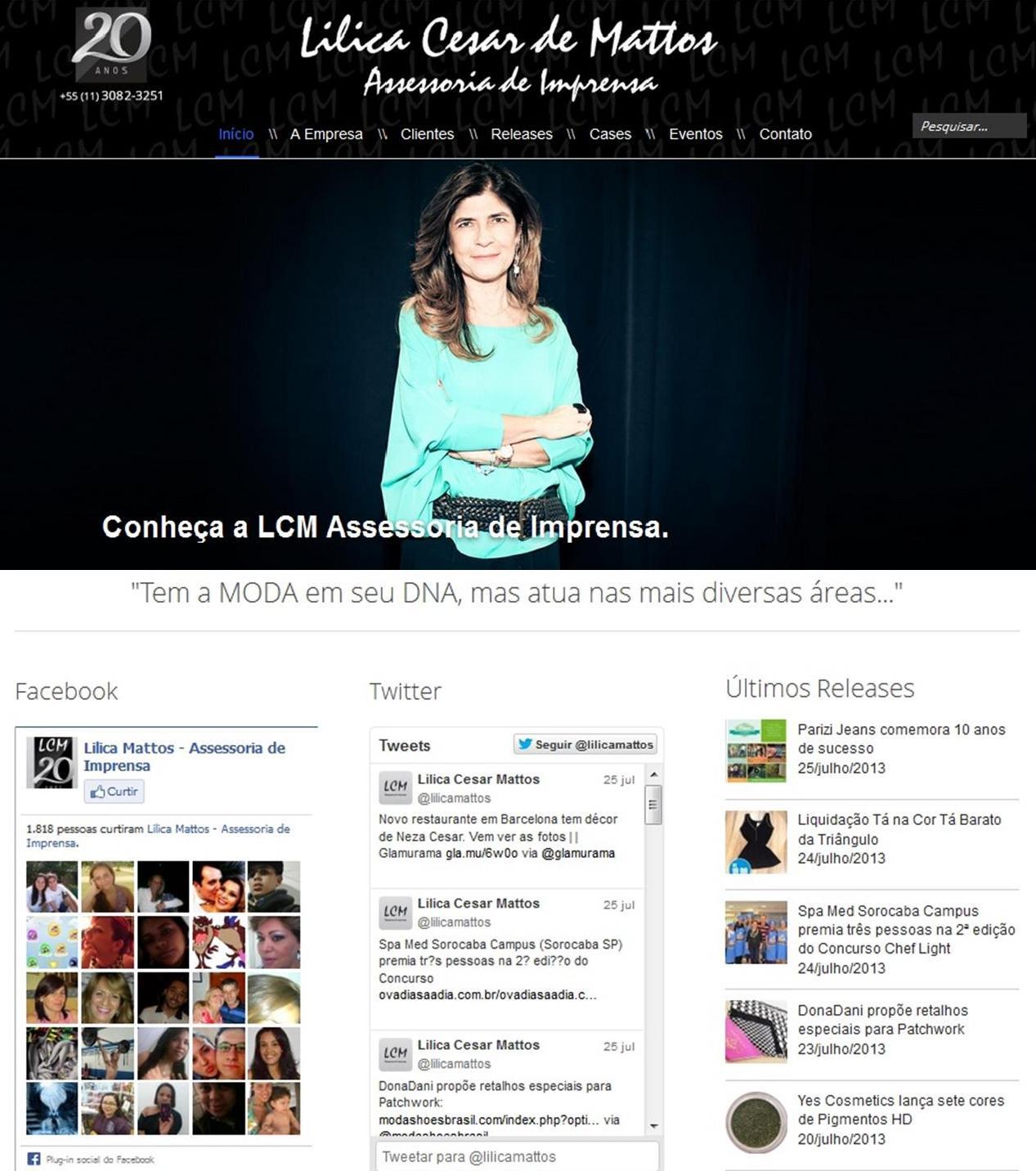 Lilica Mattos - Assessoria de Imprensa | 20 Anos